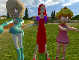 Rosalina, Peach And Jessica Hypnotized by VG-MC