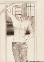 Next door - Albert Wesker by Kazuny