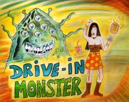 DRIVE-IN MONSTER ! by Glamvampyre