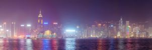Hong-Kong panoram by Aledgan