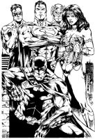 Marcio Abreu New 52 Justice League Inks by SupermanOfToday