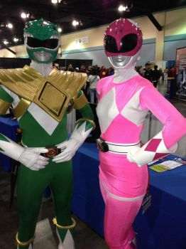 Green Ranger and Pink Ranger by DramaDollLover