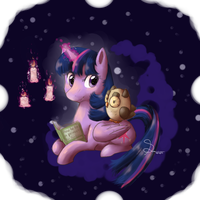 Reading with Twilight by Mimkage