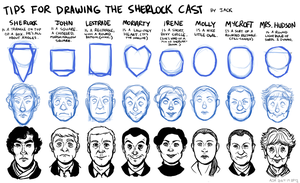 Tips For Drawing the Sherlock Cast by Jackarais