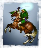 Link doing that Napoleon thing by JulianDeLio