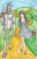 Dorothy and the Tin Woodman by MissDarling23