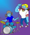 Ghost Drummer Eileen And Ghost Rapper Del by ArielKamikaze