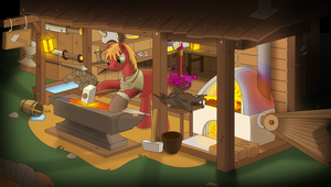 Fantasy MLP world: Big Mac grand smith by Rusilis