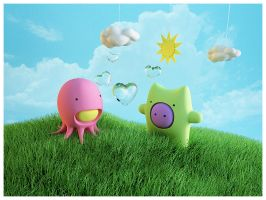 Grass , sun and love by Nalgoso