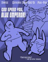 God Speed You, Blue Emperor by fightingferret