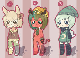 Sad Adopts {003} (closed) by LizardBat