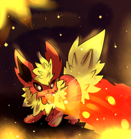 Flareon Used Flamethrower by LizardonEievui13