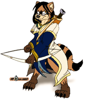 The Raccoon Archer by ZarcTheVioletWolf