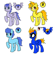 Free Pony OC Adopts -ONE LEFT- by Sooty123