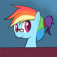 Eggheady Rainbow Dashy by peperoger