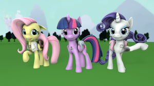 Equestria's Judgment Twilight, Rarity and Flutters by FD-Daylight