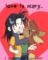 Love is Scary... by Akagitsune