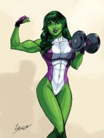 She Hulk by spencertoons