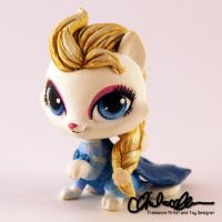 Elsa from Frozen custom LPS by thatg33kgirl