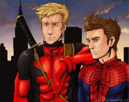-SpideyPool- Pretty Good Team by mael-likki