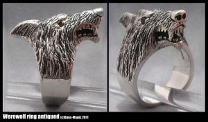Werewolf ring - antiqued by Dans-Magic