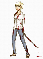 tumblr drawing 4: Zombie girl by Exploding-Zombies