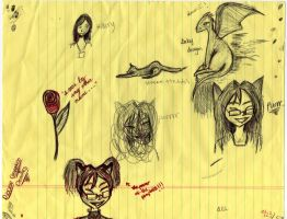 Conventional Doodles 1 by Middlelioness