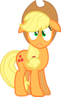 Scared Applejack by TertonDA