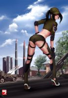 China army girl by Layerx3