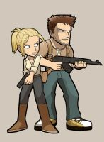 UNCHARTED Nathan and Elena by SandikaRakhim