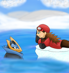 Claire with Empoleon by luna008