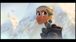Winter Girl by petura