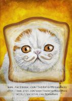 Snoopy the Breadcat - Cats with Moustaches by Lilith413