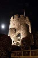 conwy castle at night 2 by CharmingPhotography