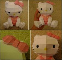 Hello Kitty Paper Model by katrivsor