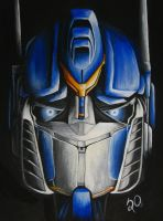 Optimus Prime by vermilionbird