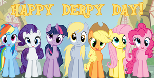 Mane Seven - Derpy Day Version by EonEvolution