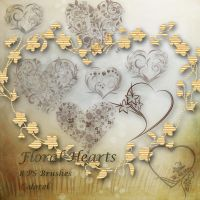 Floral hearts by libidules
