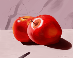 Apple Painting Study by FranksArtZone