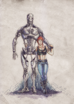 T-900 and Sima by Irkis