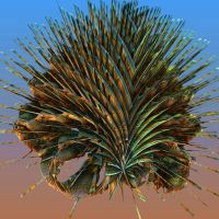 Trifox Complex Angles Spiny Sea Creature by wildwanderingirl