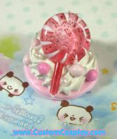 New pink lolli ring by The-Cute-Storm