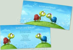 Wedding Invitation - Turtles by Tooshtoosh