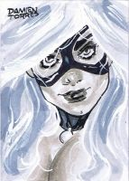 Black Cat Sketchcard by dtor91