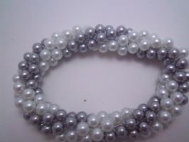 Silver and Pearls Bracelet by Artisticat86