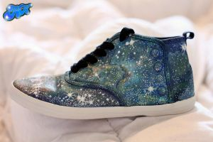 Nebula Shoes - Painted by hand by AlexandraSophie