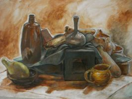 Still Life with Underpainting by ResidentFrankenstein