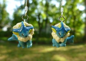Vaporeon Earrings by nemuineko85