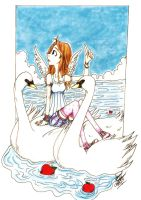 Sky Girl and the Swans by CatcherRye