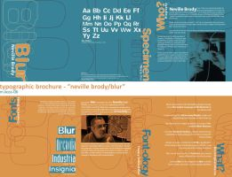 typographic brochure by bugbyte